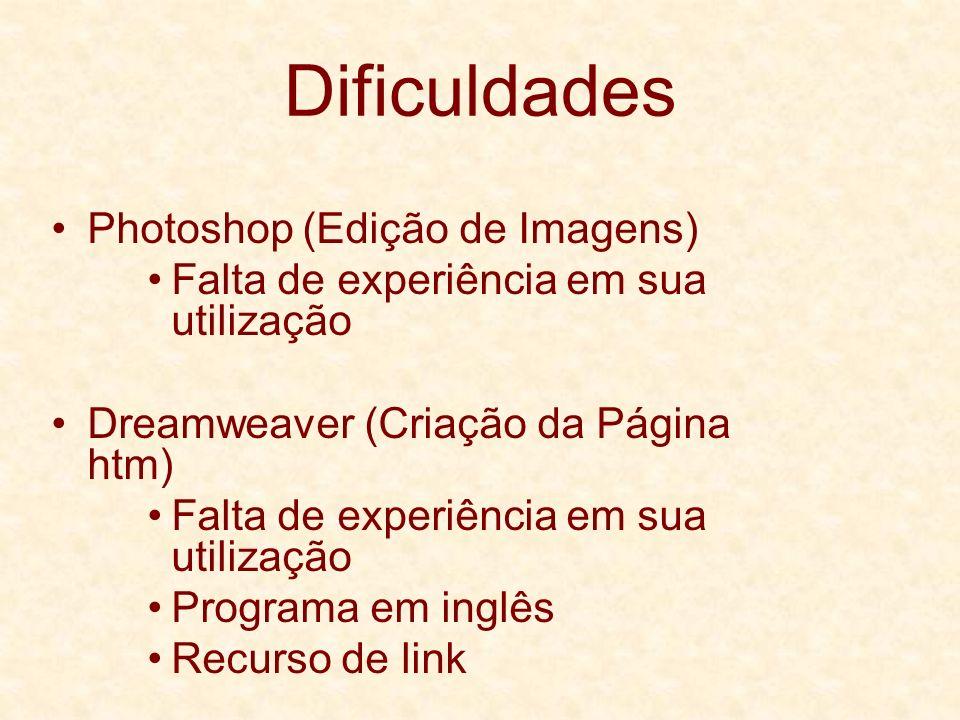 Dificuldades Photoshop (Edição de Imagens)