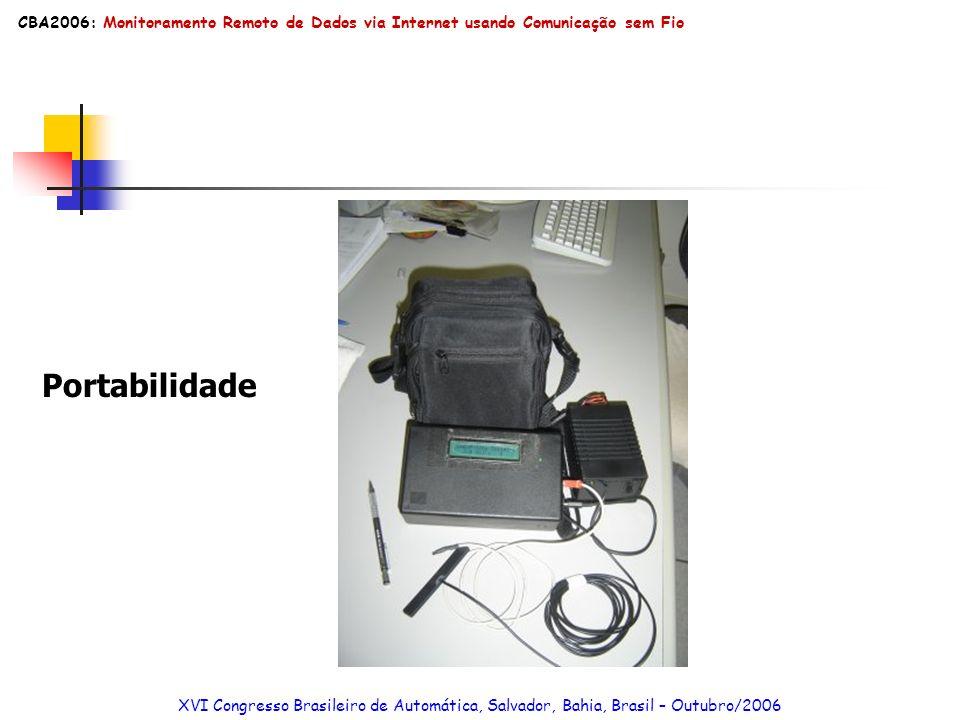 CBA2006: Monitoramento Remoto de Dados via Internet usando Comunicação sem Fio