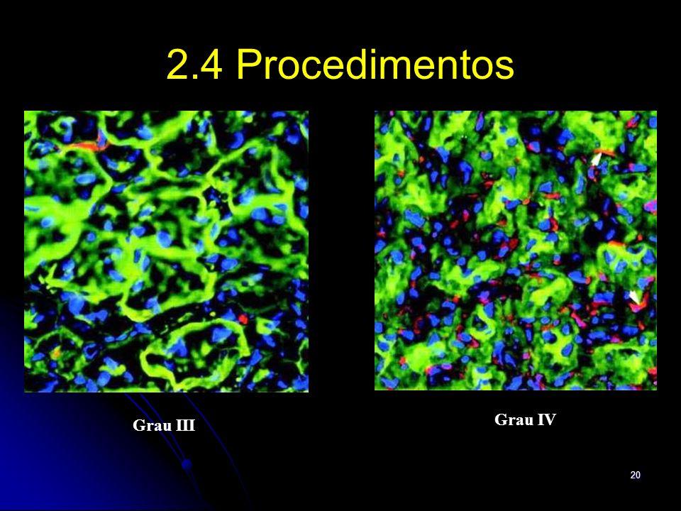 2.4 Procedimentos Grau IV Grau III