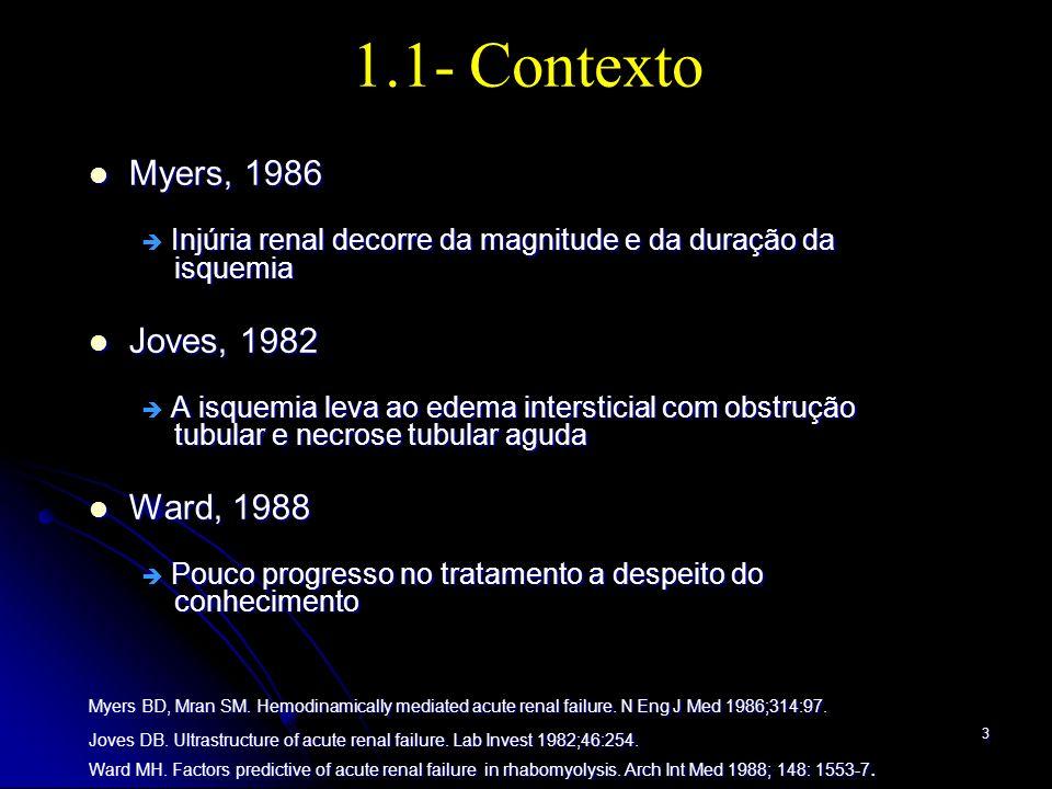 1.1- Contexto Myers, 1986 Joves, 1982 Ward, 1988