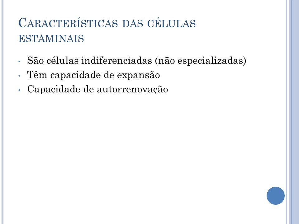 Características das células estaminais