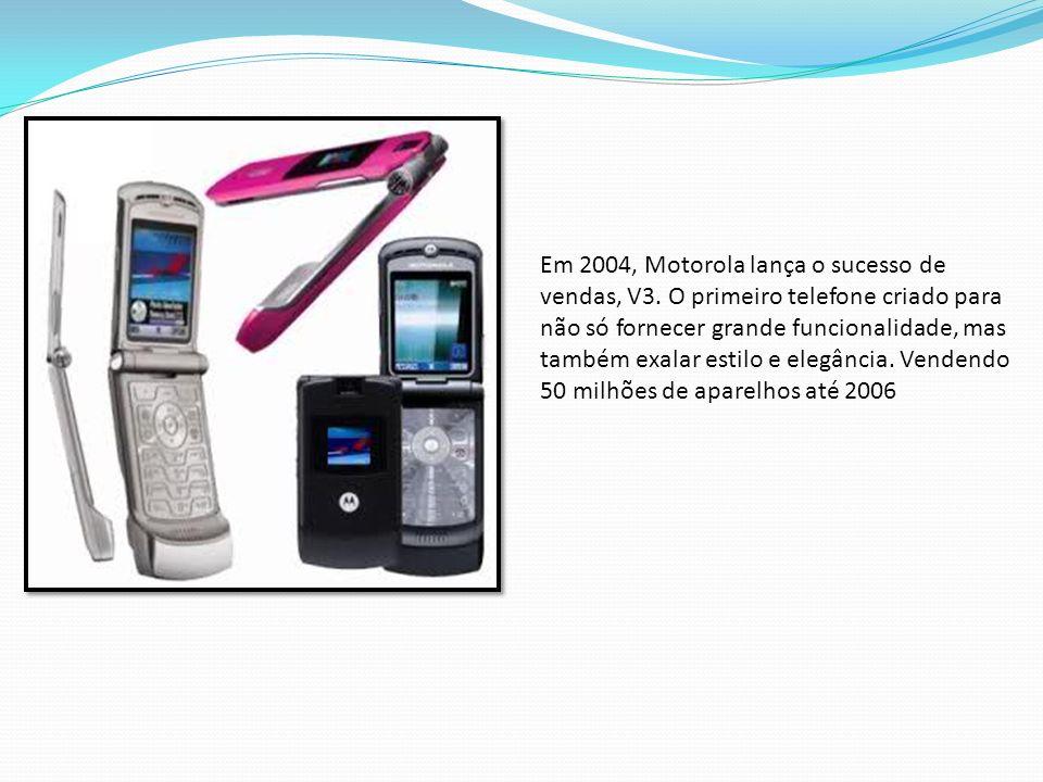 Em 2004, Motorola lança o sucesso de vendas, V3