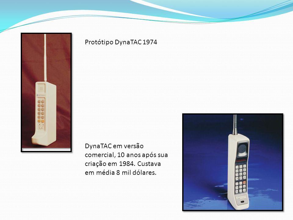 Protótipo DynaTAC 1974 DynaTAC em versão comercial, 10 anos após sua criação em 1984.
