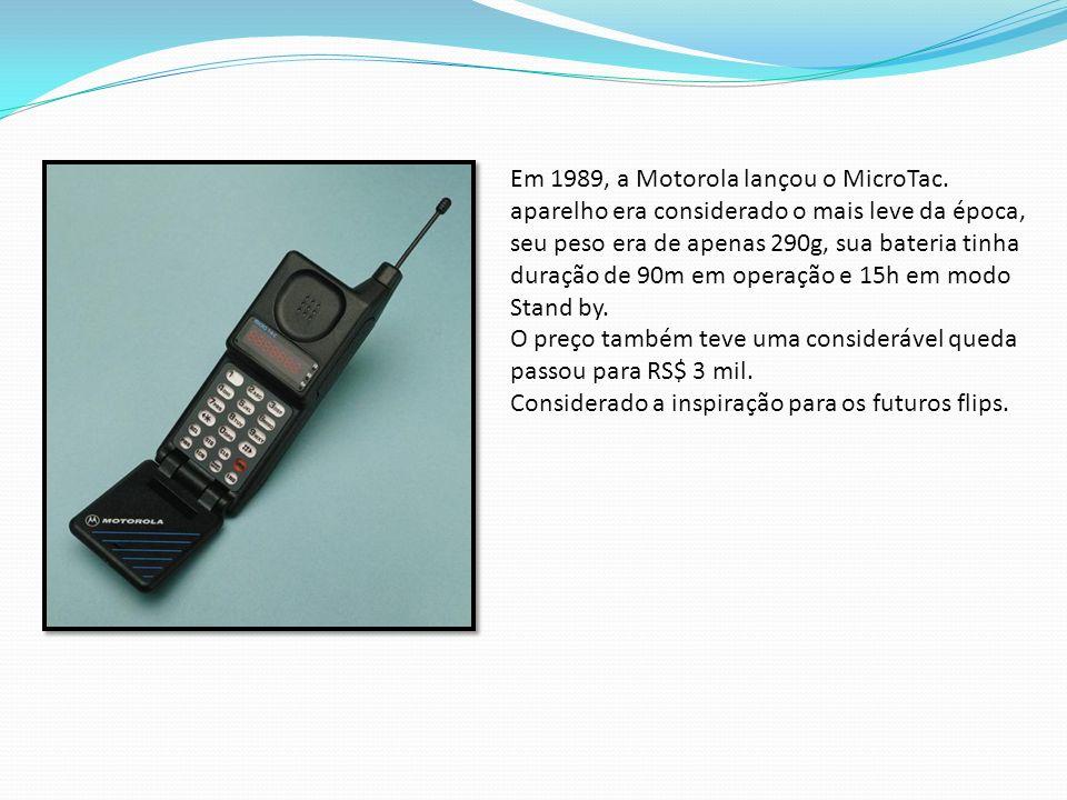 Em 1989, a Motorola lançou o MicroTac