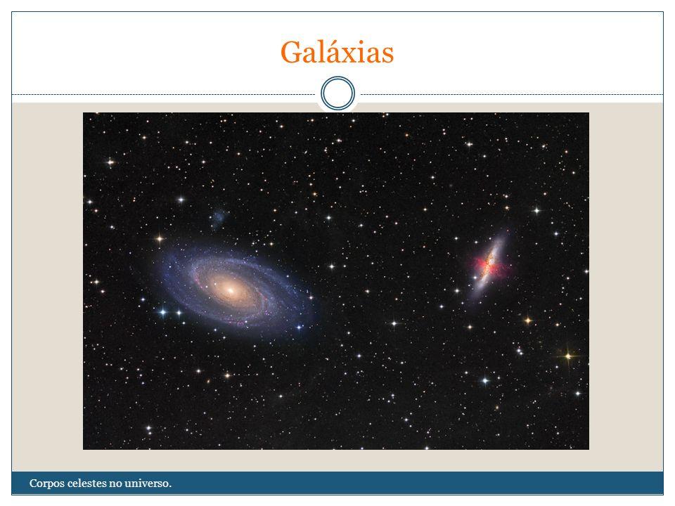 Galáxias Corpos celestes no universo.