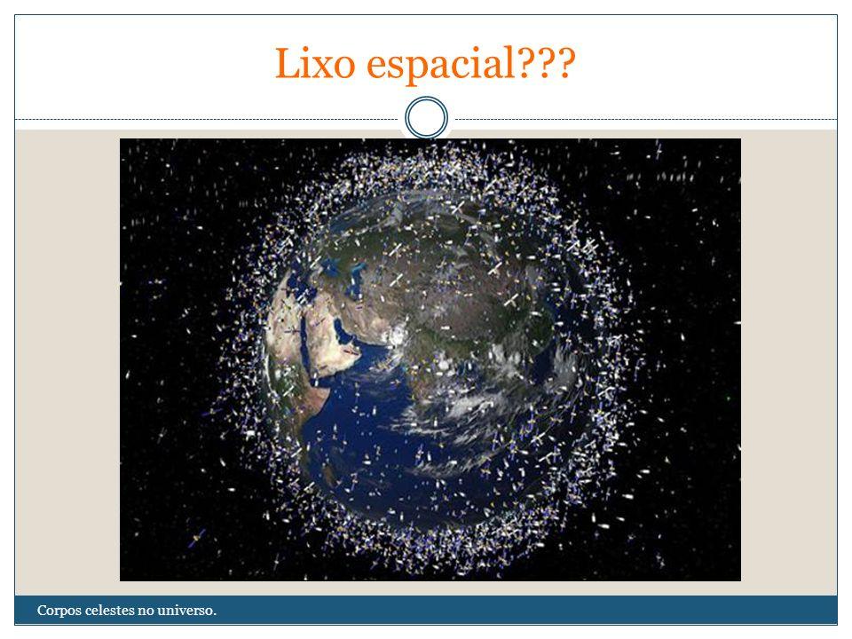 Lixo espacial Corpos celestes no universo.