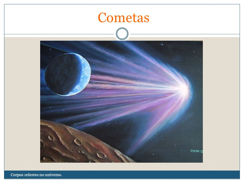 Cometas Corpos celestes no universo.