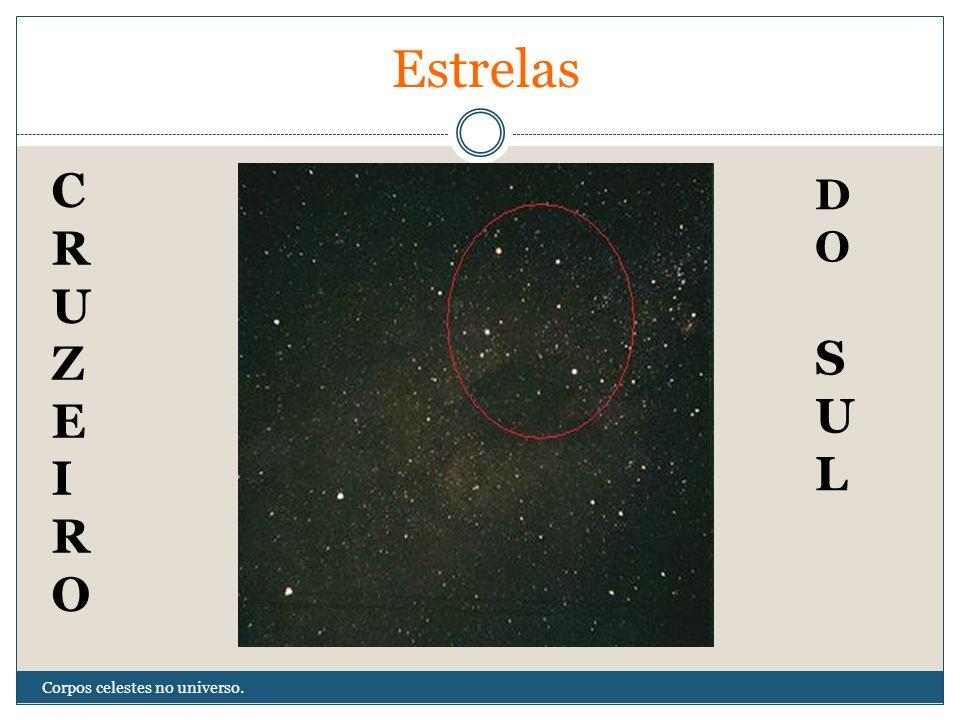 Estrelas C R U Z E I O D O S U L Corpos celestes no universo.