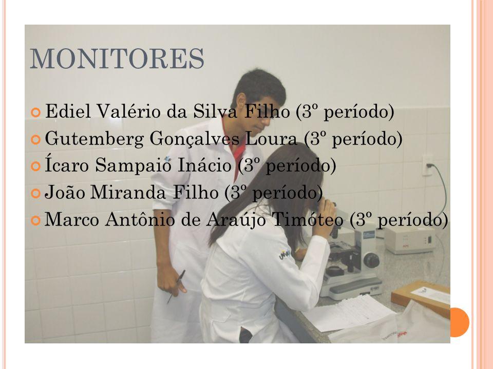 MONITORES Ediel Valério da Silva Filho (3º período)