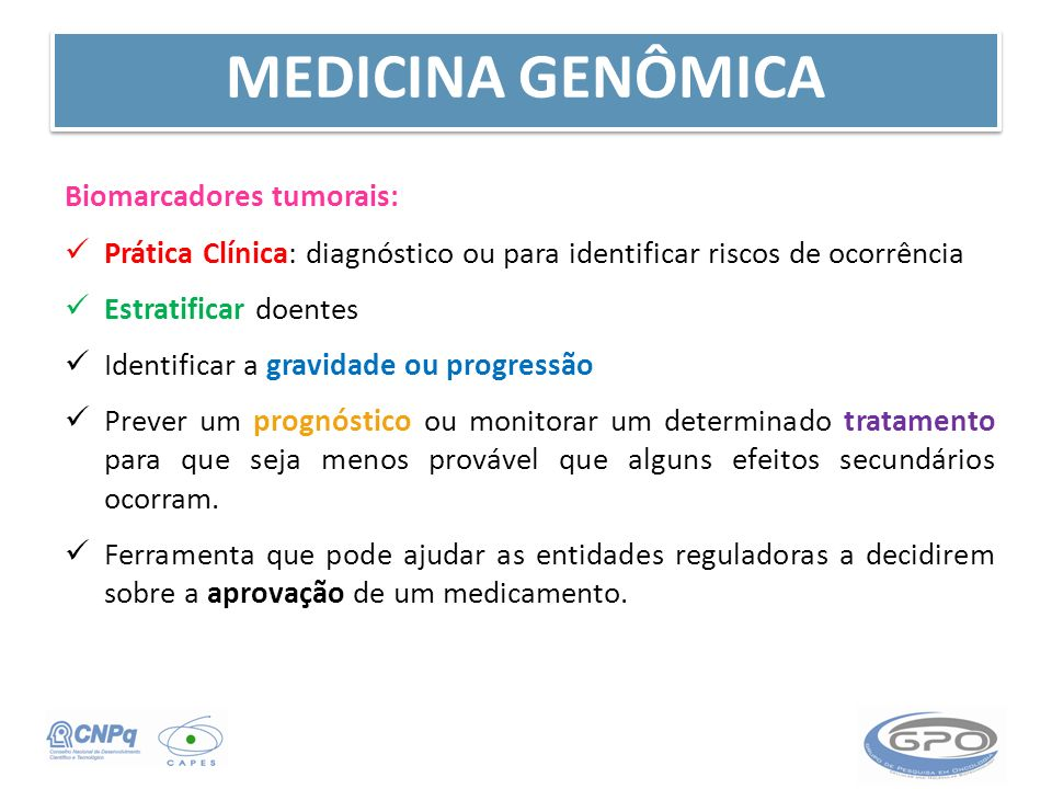 MEDICINA GENÔMICA Biomarcadores tumorais: