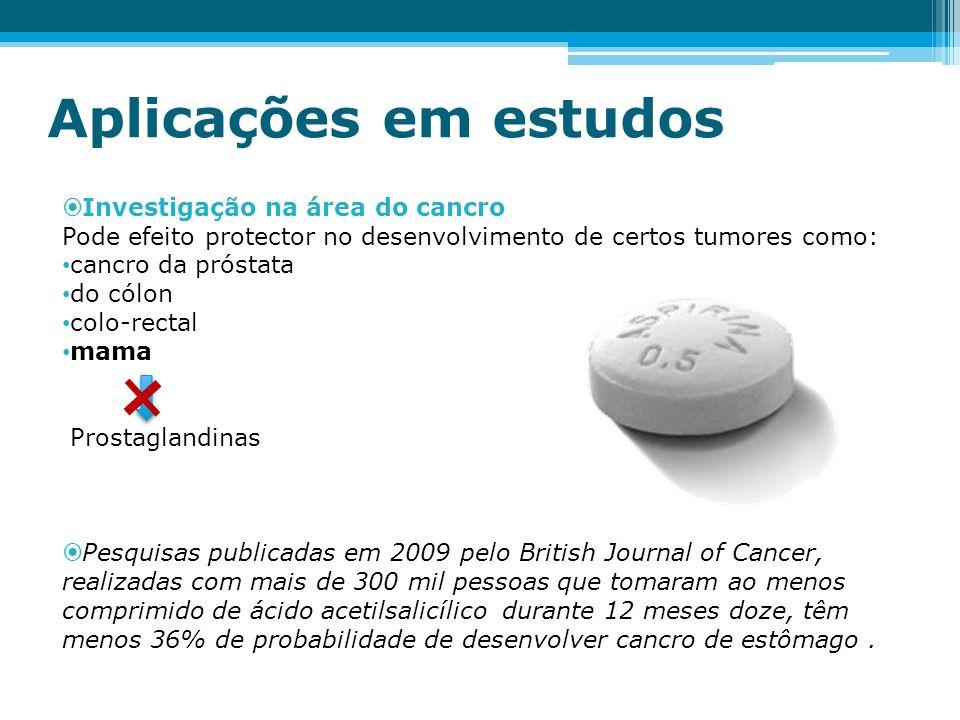Aplicações em estudos Investigação na área do cancro