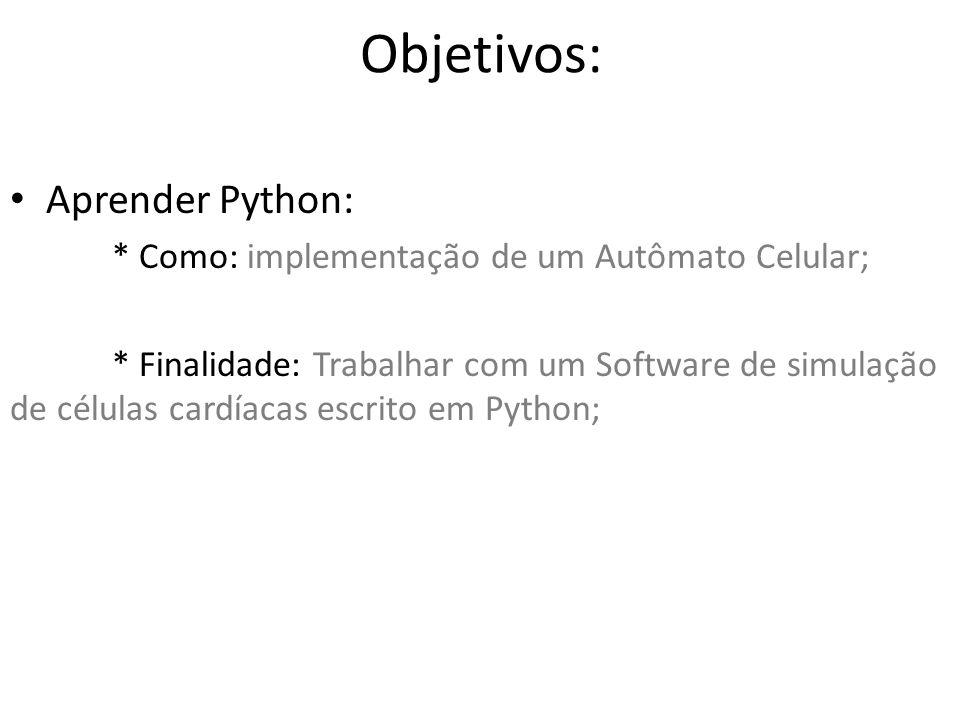 Objetivos: Aprender Python: