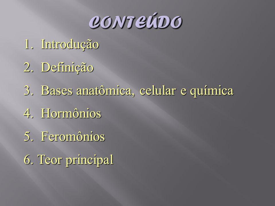 Conteúdo Introdução Definição Bases anatômica, celular e química