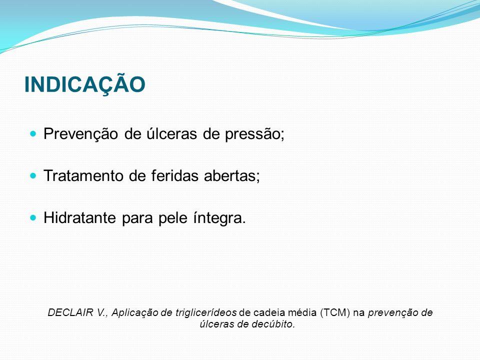 INDICAÇÃO Prevenção de úlceras de pressão;