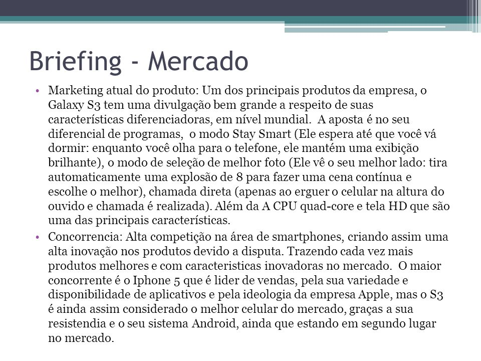Briefing - Mercado
