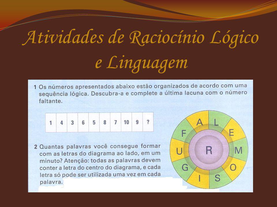 Atividades de Raciocínio Lógico e Linguagem