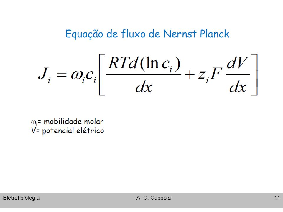 Eletrofisiologia A. C. Cassola