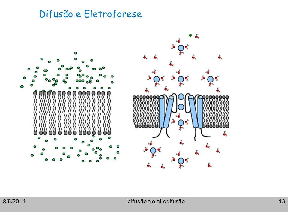 difusão e eletrodifusão