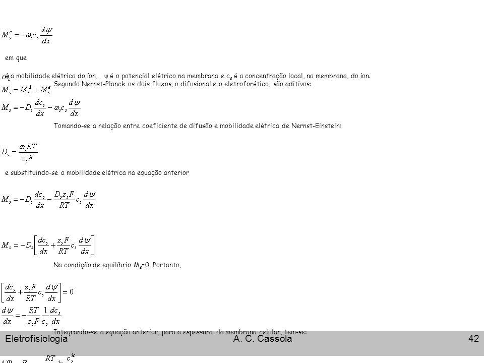 Eletrofisiologia A. C. Cassola em que