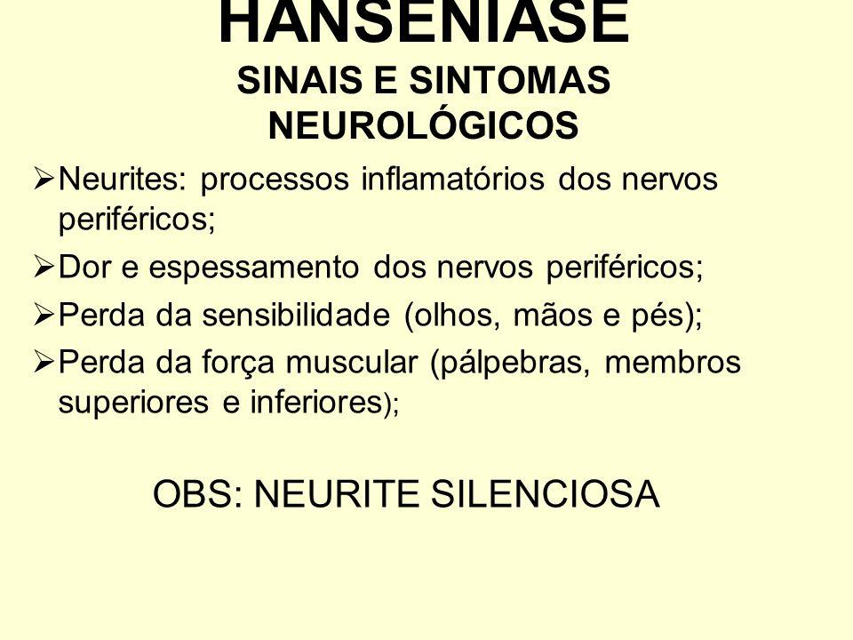 HANSENÍASE SINAIS E SINTOMAS NEUROLÓGICOS