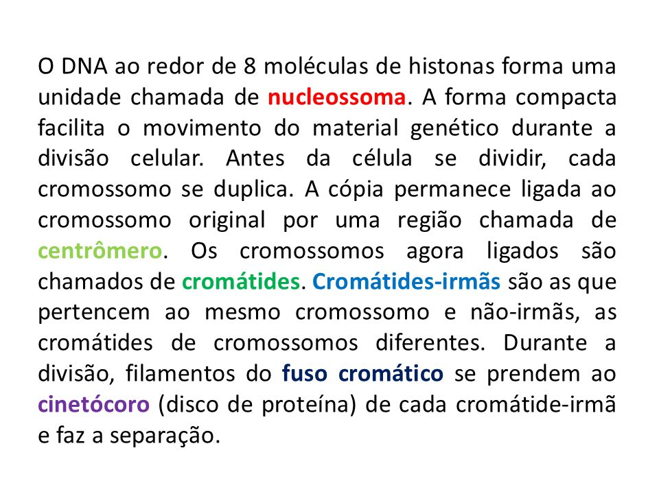 O DNA ao redor de 8 moléculas de histonas forma uma unidade chamada de nucleossoma.