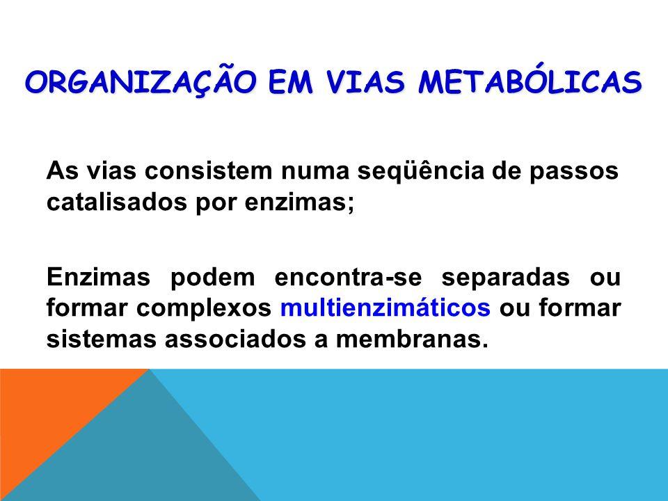 ORGANIZAÇÃO EM VIAS METABÓLICAS