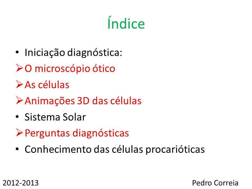 Índice Iniciação diagnóstica: O microscópio ótico As células