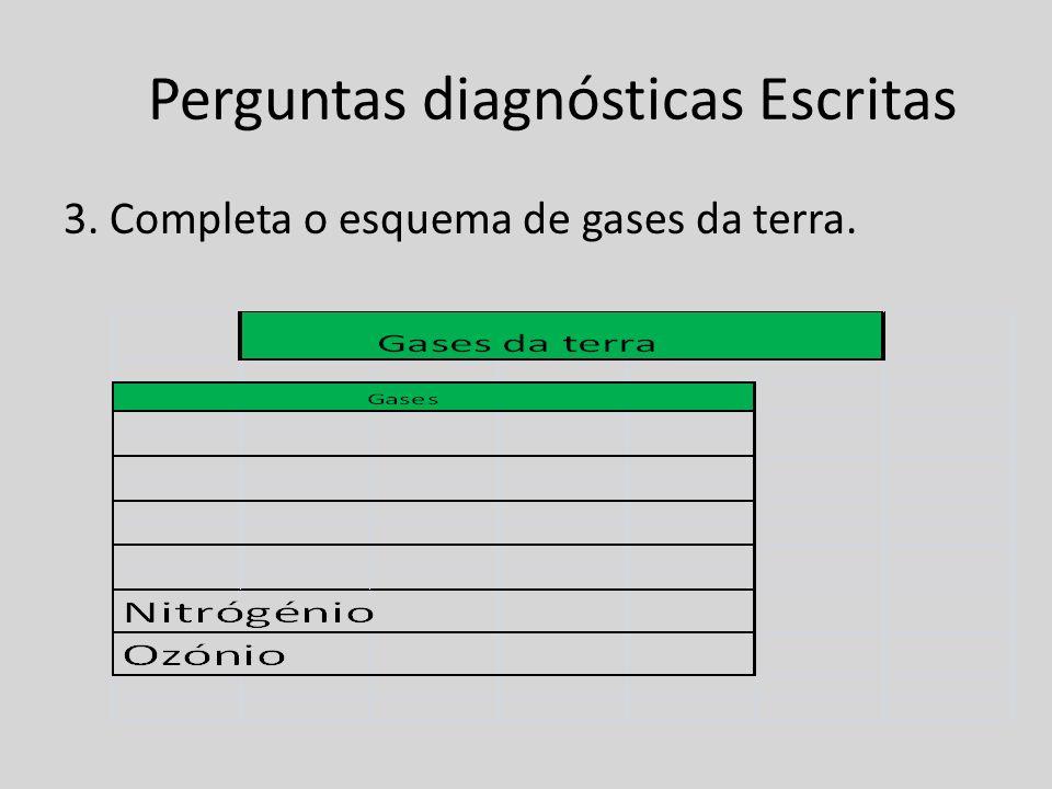 Perguntas diagnósticas Escritas