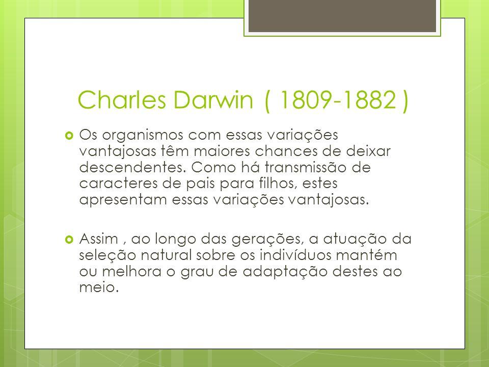Charles Darwin ( 1809-1882 )