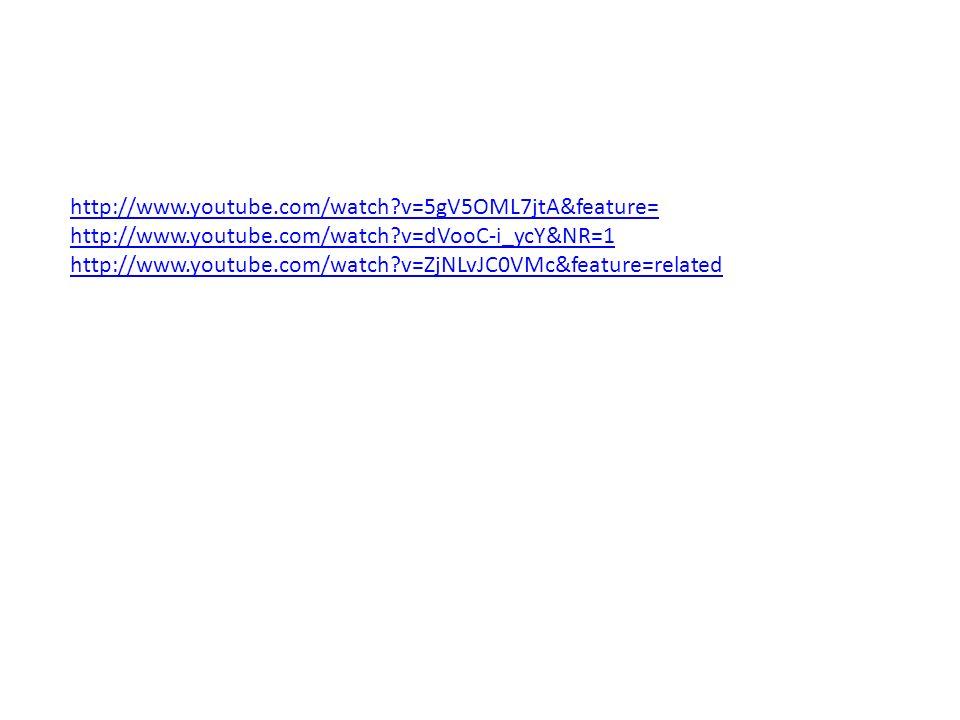 http://www.youtube.com/watch v=5gV5OML7jtA&feature= http://www.youtube.com/watch v=dVooC-i_ycY&NR=1.