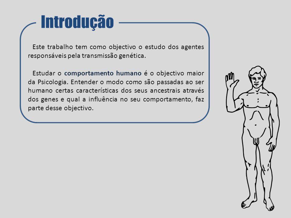 Introdução Este trabalho tem como objectivo o estudo dos agentes responsáveis pela transmissão genética.