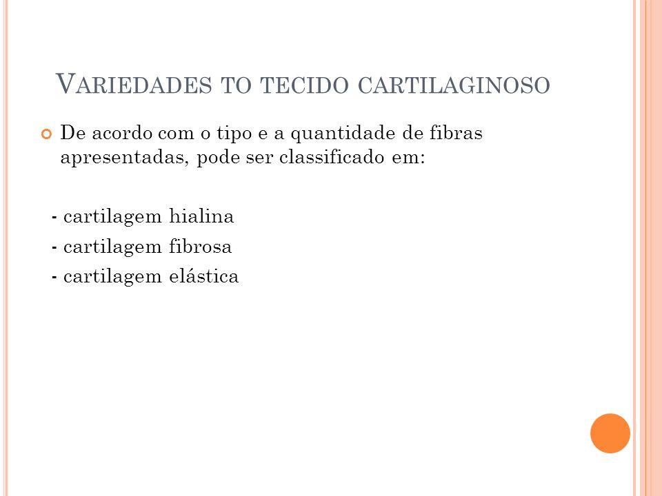 Variedades to tecido cartilaginoso
