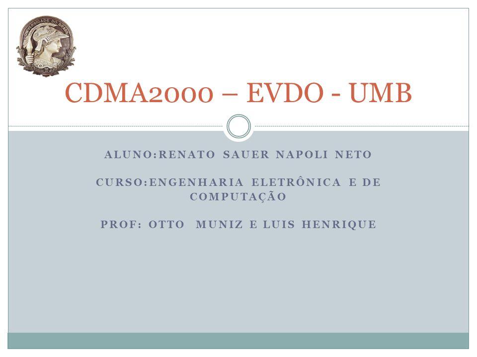 CDMA2000 – EVDO - UMB Aluno:Renato Sauer Napoli Neto