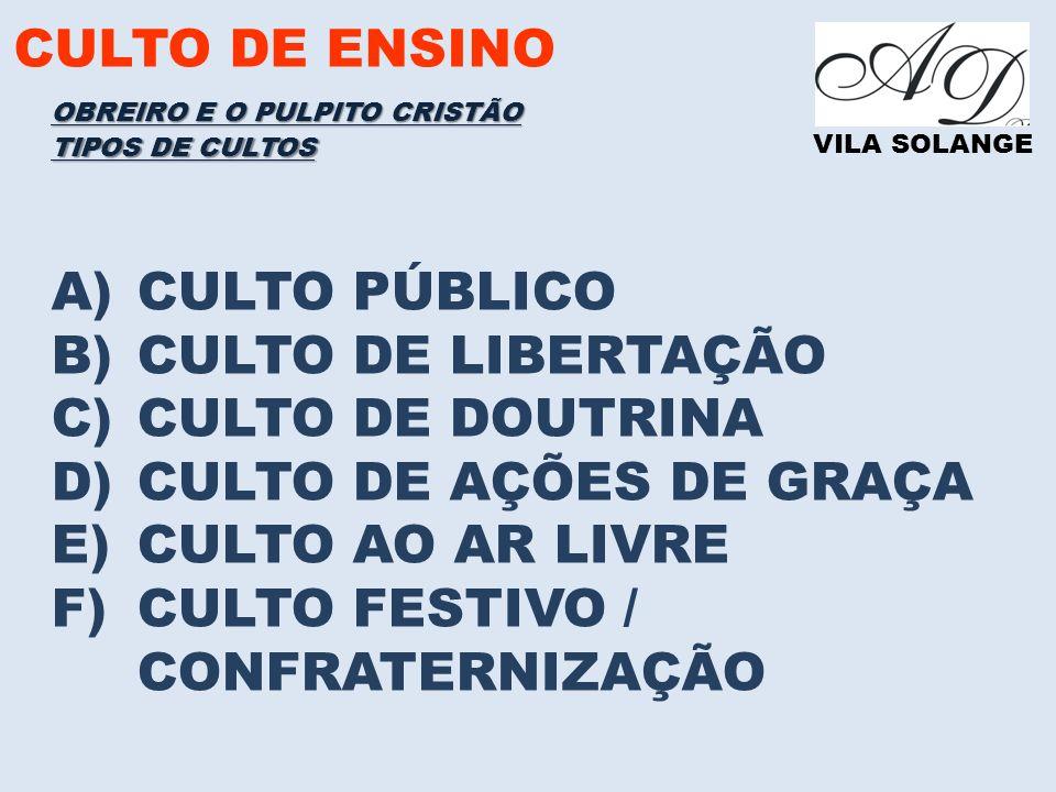 CULTO FESTIVO / CONFRATERNIZAÇÃO