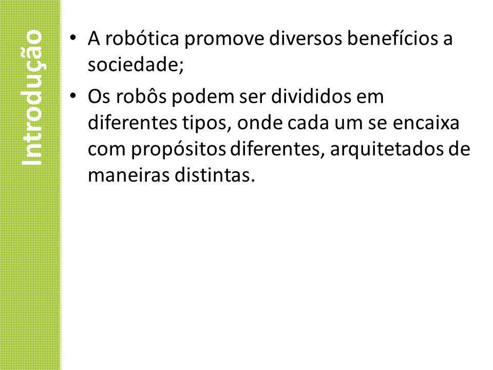 Introdução A robótica promove diversos benefícios a sociedade;