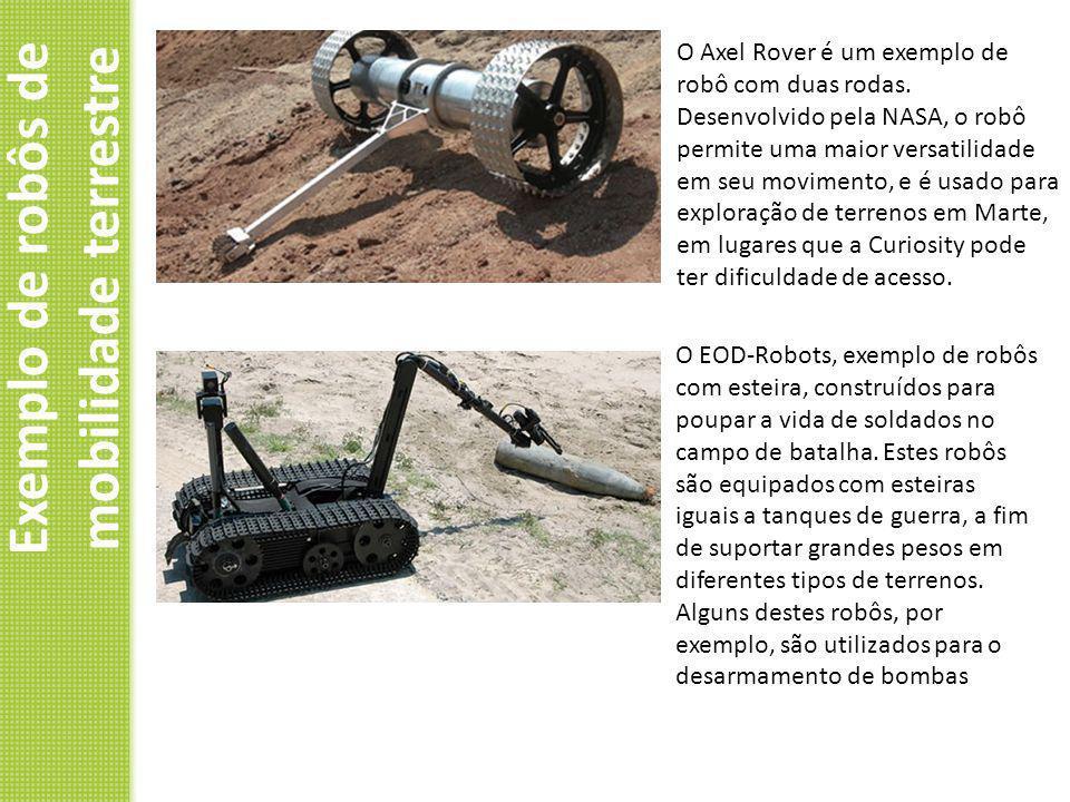 Exemplo de robôs de mobilidade terrestre