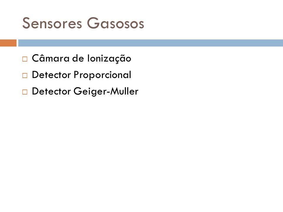 Sensores Gasosos Câmara de Ionização Detector Proporcional