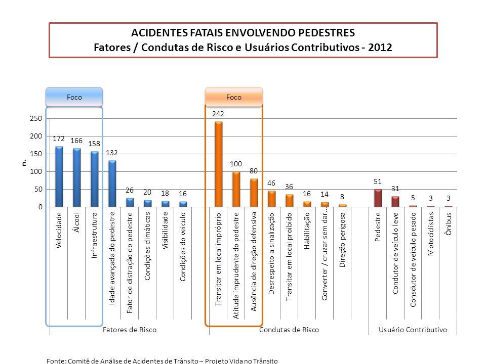 ACIDENTES FATAIS ENVOLVENDO PEDESTRES