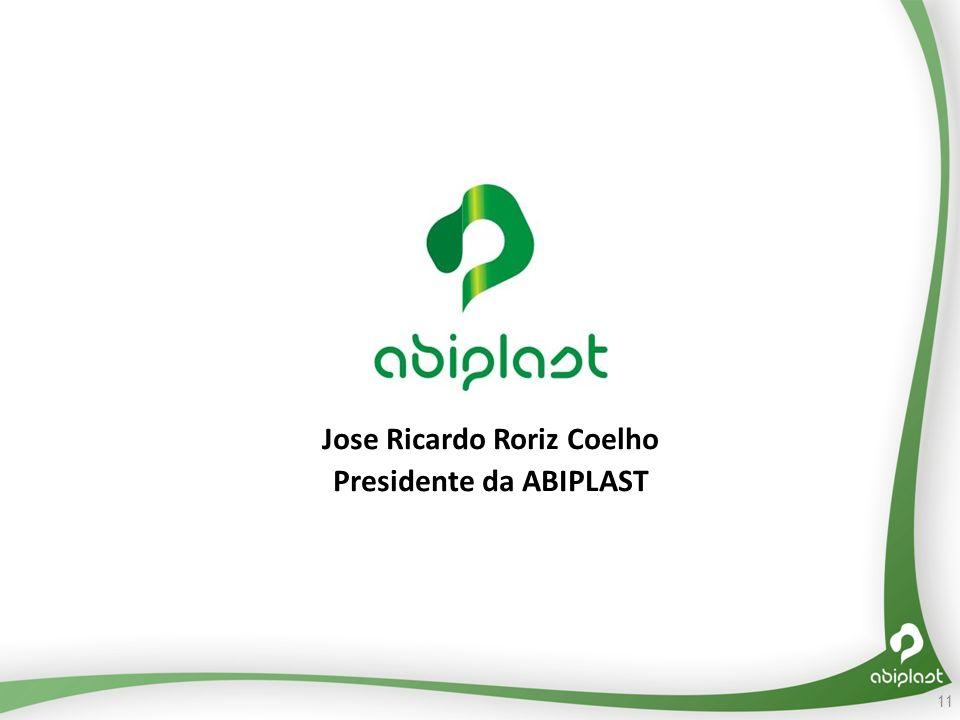 Jose Ricardo Roriz Coelho Presidente da ABIPLAST