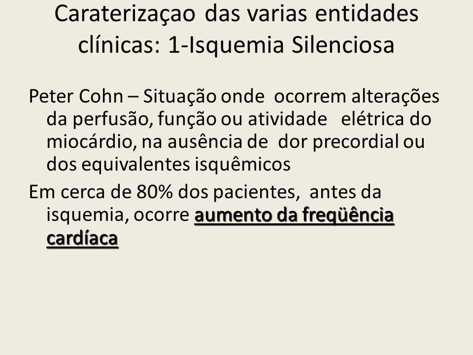 Caraterizaçao das varias entidades clínicas: 1-Isquemia Silenciosa