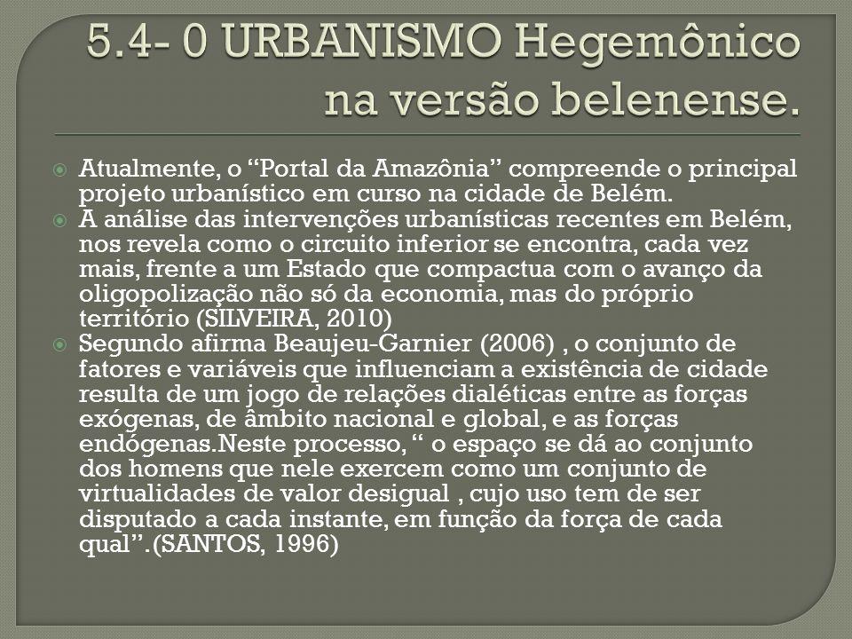 5.4- 0 URBANISMO Hegemônico na versão belenense.