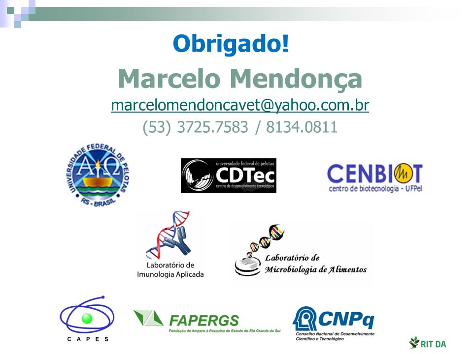 Marcelo Mendonça Obrigado! marcelomendoncavet@yahoo.com.br
