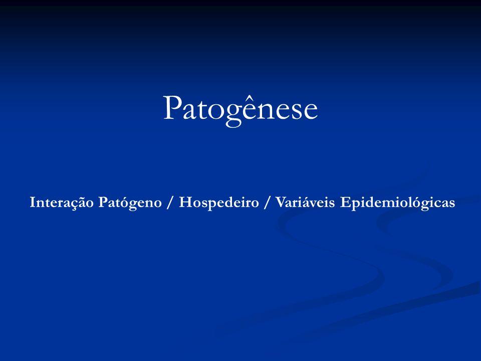 Interação Patógeno / Hospedeiro / Variáveis Epidemiológicas