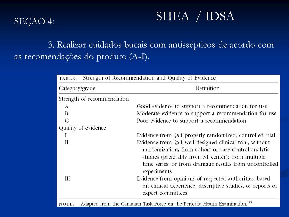 SHEA / IDSA SEÇÃO 4: 3.