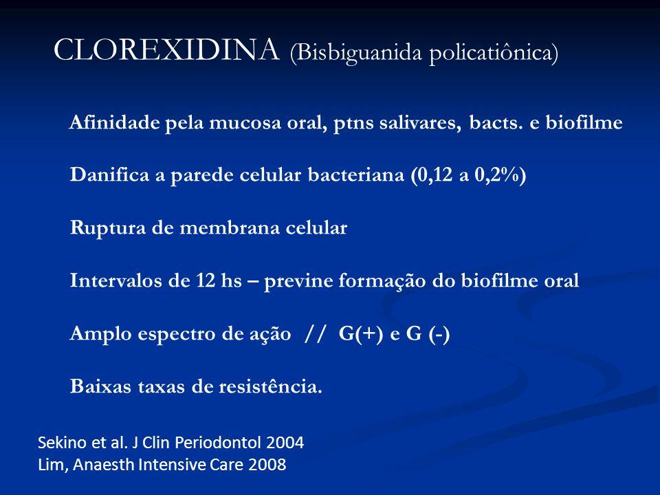 CLOREXIDINA (Bisbiguanida policatiônica)