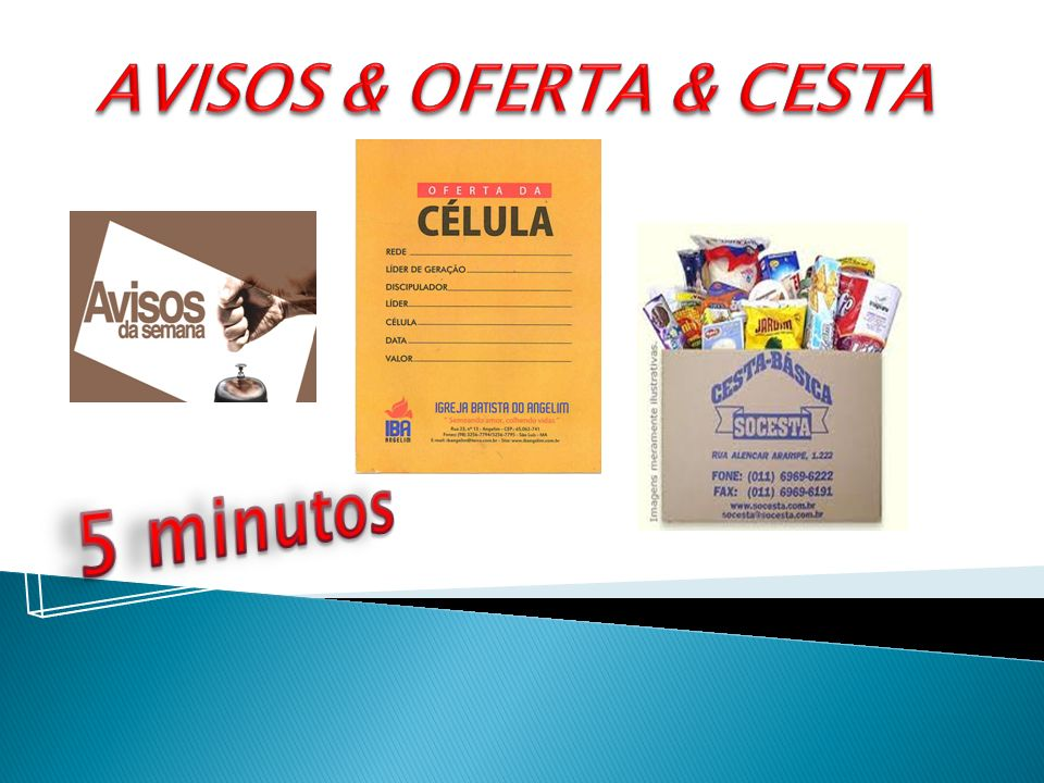 AVISOS & OFERTA & CESTA 5 minutos