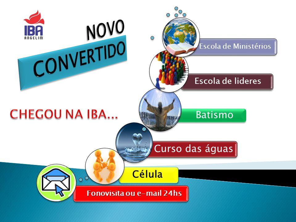 NOVO CONVERTIDO CHEGOU NA IBA... Batismo Curso das águas Célula