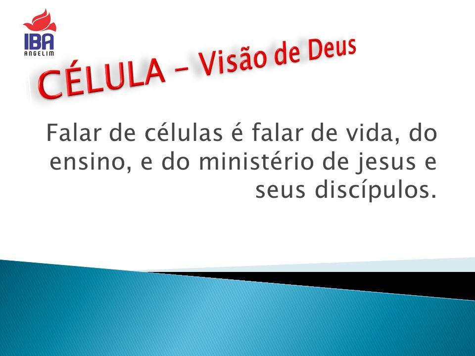 CÉLULA - Visão de Deus Falar de células é falar de vida, do ensino, e do ministério de jesus e seus discípulos.