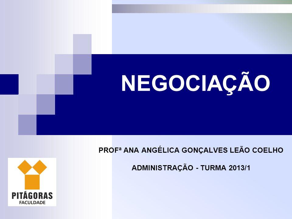 PROFª ANA ANGÉLICA GONÇALVES LEÃO COELHO ADMINISTRAÇÃO - TURMA 2013/1