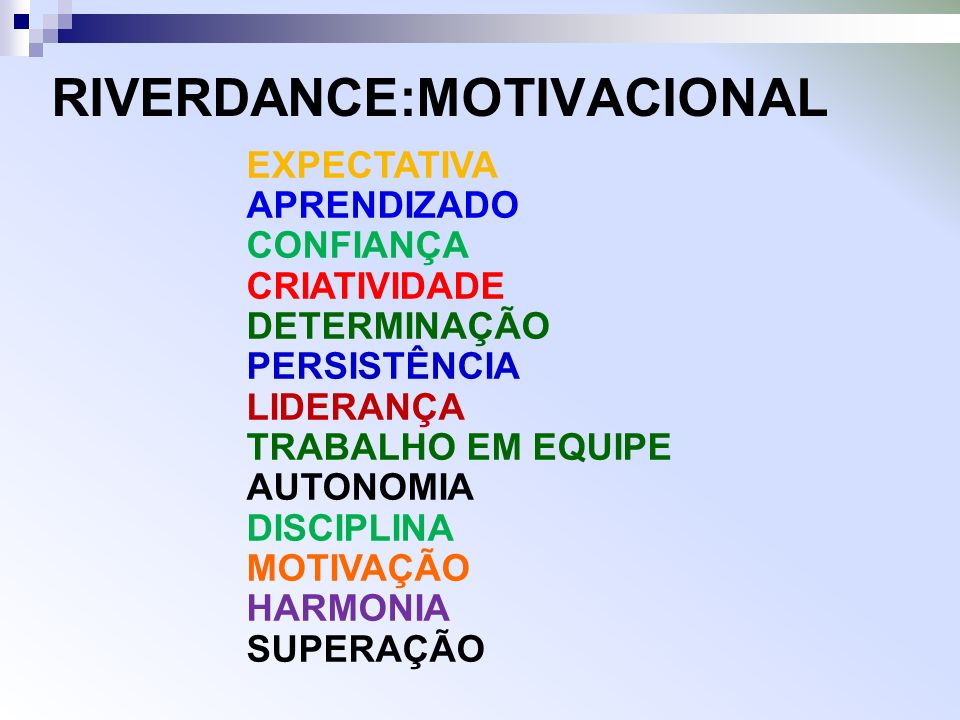 RIVERDANCE:MOTIVACIONAL